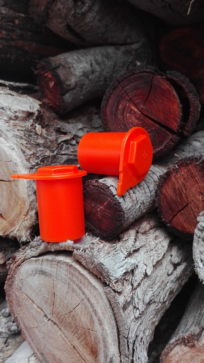 Extended 38mm Australian made loose wheel nut indicator in NutWare's orange. Suitable for 4wds, caravans and trailers.