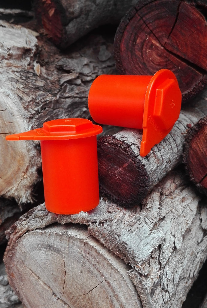 Australian Made orange loose wheel nut indicators available in packs of 15, 25 and 100. Mixed bags of a combination of sizes and colours also available.