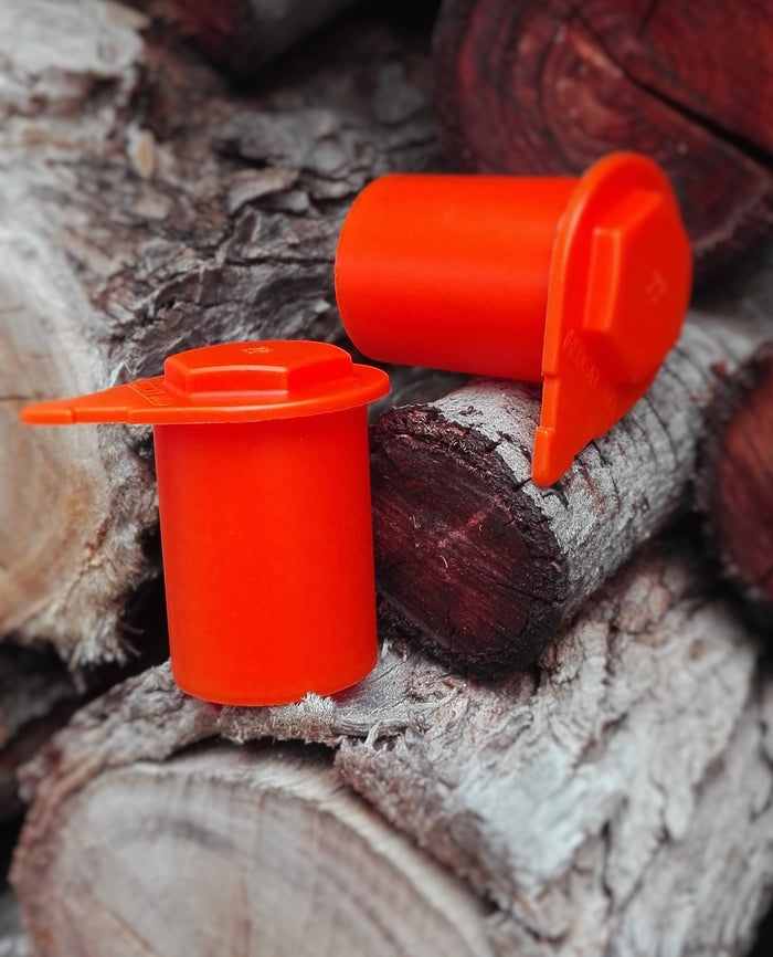Orange Loose Wheel Nut Indicators. Australian made, dual purpose, available from NutWare