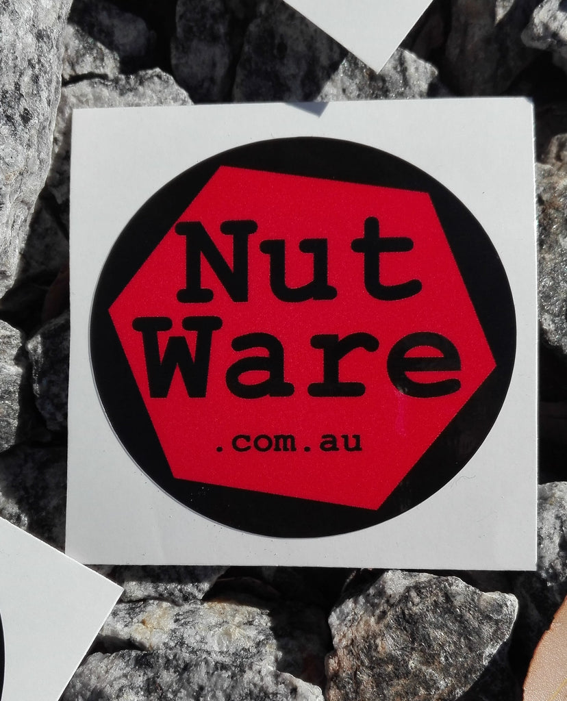 NutWare Coloured Wheel Nut Indicators / RED Sticker / waterproof, vinyl sticker