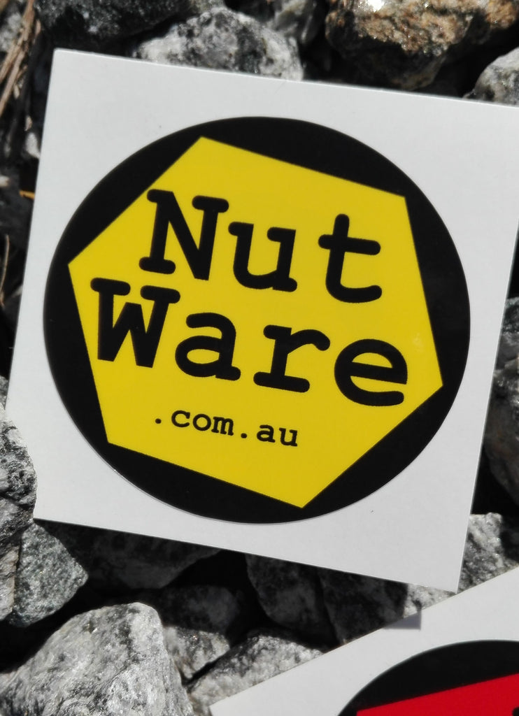 NutWare Coloured Wheel Nut Indicators / Safety First Yellow NutWare waterproof, vinyl sticker
