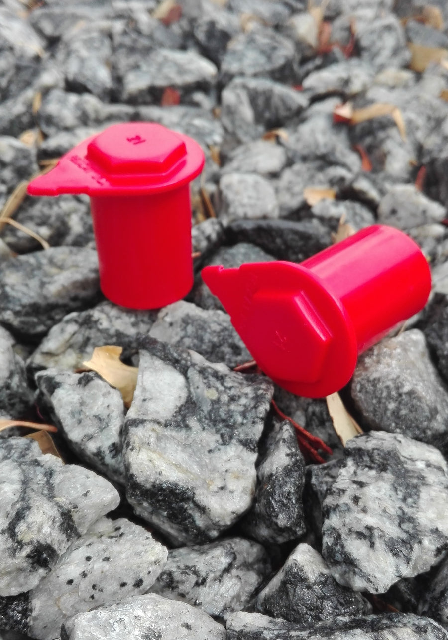 21mm x 38mm Red Loose Wheel Nut Indicator, NutWare, Australian Made. tyre change alert kits