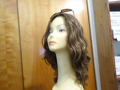 "European Multidirectional 16"" Wavy Brown with Highlights #4/8/10 - wigs, Women's Wigs - kosher, Malky - Malky Wigs"