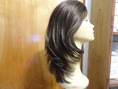 "European Multidirectional 16"" Straight Medium Brown with Highlights #6/8 - wigs, Women's Wigs - kosher, Malky - Malky Wigs"