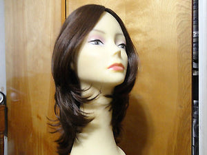 "European Multidirectional 16"" Straight Medium Brown #8/6 - wigs, Women's Wigs - kosher, Malky Wigs - Malky Wigs"