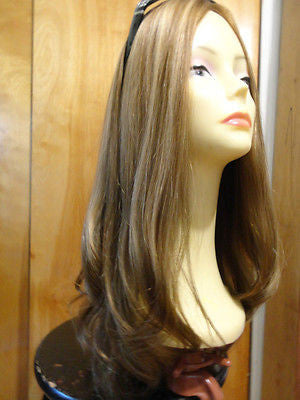 "European Multidirectional 22"" Straight Medium Brown with Highlights #14-8 - wigs, Women's Wigs - kosher, Malky Wigs - Malky Wigs"