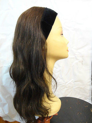 "European BandFall 22"" Medium Brown with Highlights #4 - wigs, Women's Wigs - kosher, Malky - Malky Wigs"