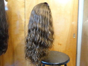 "European Multidirectional 22"" Wavy Medium Brown with Highlights  #8/4 - wigs, Women's Wigs - kosher, Malky Wigs - Malky Wigs"