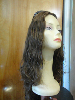 "European Multidirectional 22"" Wavy Medium Golden Brown with Highlights #8/6 - wigs, Women's Wigs - kosher, Malky Wigs - Malky Wigs"