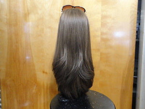 "European Multidirectional 22"" Straight Medium Brown with Highlights - wigs, Women's Wigs - kosher, Malky Wigs - Malky Wigs"