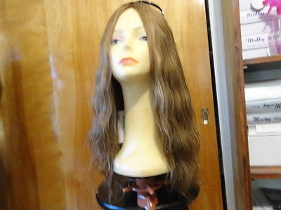 "European Multidirectional 22"" Wavy Lightest Brown with Highlights #14/8 - wigs, Women's Wigs - kosher, Malky - Malky Wigs"