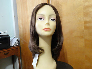 "European Multidirectional 16"" Straight Medium Brown with Highlights - wigs, Women's Wigs - kosher, Malky Wigs - Malky Wigs"
