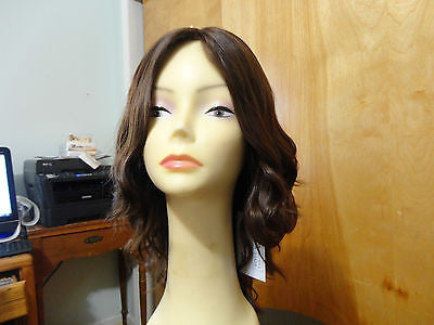 "European Multidirectional 16"" Wavy Medium Brown with Highlights - wigs, Women's Wigs - kosher, Malky - Malky Wigs"