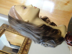 "European BandFall 22"" Light Brown with Highlights #10/6/8 - wigs, Women's Wigs - kosher, Malky Wigs - Malky Wigs"
