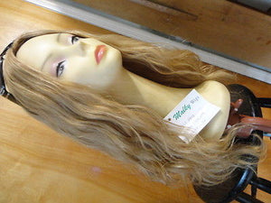 "European Multidirectional 22"" Wavy Blonde with Highlights #24/14/12 - wigs, Women's Wigs - kosher, Malky Wigs - Malky Wigs"