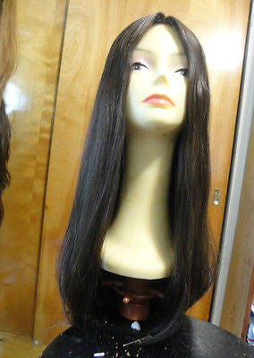 "European Multidirectional 28"" Straight Medium Brown with Highlights - wigs, Women's Wigs - kosher, Malky - Malky Wigs"