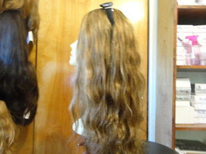 "European Multidirectional 22"" Wavy Lightest Brown with Highlights #14/8 - wigs, Women's Wigs - kosher, Malky Wigs - Malky Wigs"