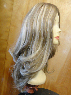 "European Multidirectional 22"" Straight Blonde with Highlights #16/10 - wigs, Women's Wigs - kosher, Malky Wigs - Malky Wigs"
