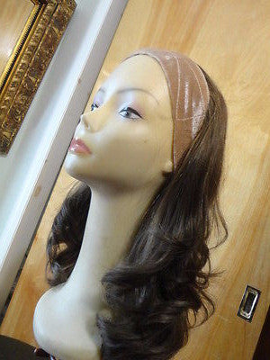 "European BandFall 22"" Light Brown with Highlights #10/6/8 - wigs, Women's Wigs - kosher, Malky - Malky Wigs"