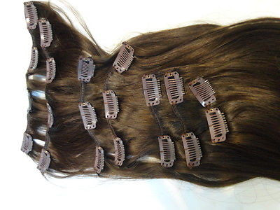 "Malky's Human European Hair Extensions, 16"" Long, Clip In, 7 Piece Set - wigs, Women's Wigs - kosher, Malky - Malky Wigs"