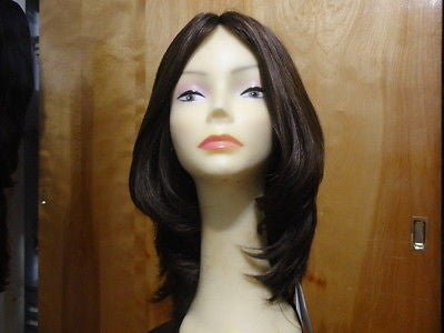 "European Multidirectional 16"" Straight Medium Brown #8/4 - wigs, Women's Wigs - kosher, Malky - Malky Wigs"