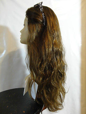 "European Multidirectional 22"" Wavy Medium Brown with Highlights #4/8/10 - wigs, Women's Wigs - kosher, Malky Wigs - Malky Wigs"