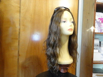 "European Multidirectional 22"" Wavy Medium Brown with Highlights #6/8/10 - wigs, Women's Wigs - kosher, Malky - Malky Wigs"