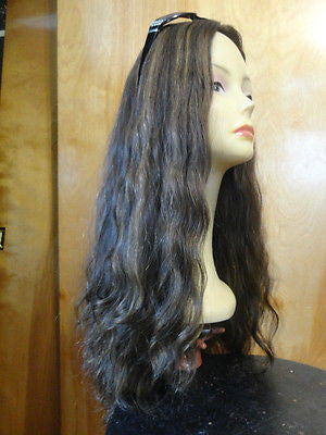 "European Multidirectional 26"" Wavy Medium Brown #8/4 - wigs, Women's Wigs - kosher, Malky Wigs - Malky Wigs"