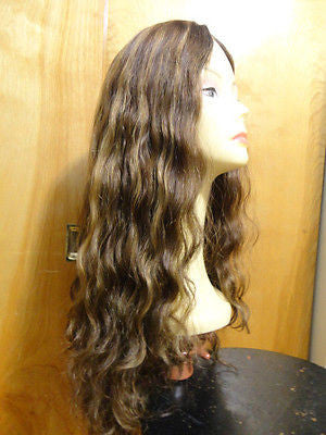 "European Multidirectional 26"" Wavy Medium Brown with Highlights #6/8/10 - wigs, Women's Wigs - kosher, Malky Wigs - Malky Wigs"