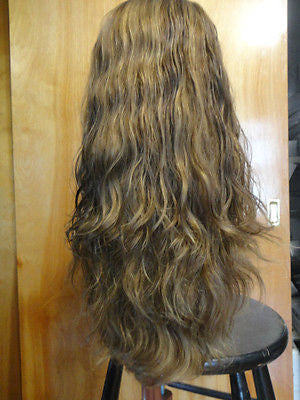 "European Multidirectional 22"" Wavy Medium Brown with Highlights #6/8/10 - wigs, Women's Wigs - kosher, Malky Wigs - Malky Wigs"