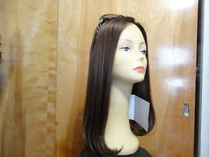 Remy Human Hair Medium Brown with Highlights Scalp Look - wigs, Women's Wigs - kosher, Malky Wigs - Malky Wigs