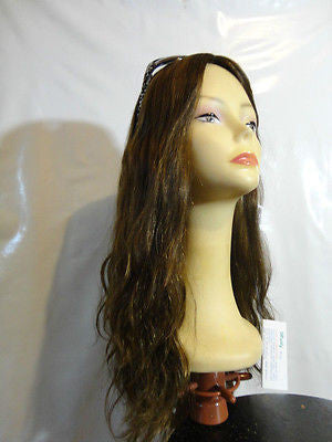 "European Multidirectional 22"" Wavy Medium Brown with Highlights  #4-8-10 - wigs, Women's Wigs - kosher, Malky Wigs - Malky Wigs"