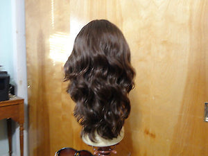"European Multidirectional 16"" Wavy Medium Brown with Highlights - wigs, Women's Wigs - kosher, Malky Wigs - Malky Wigs"