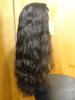 "European Multidirectional 26"" Wavy Soft Black #1B - wigs, Women's Wigs - kosher, Malky Wigs - Malky Wigs"