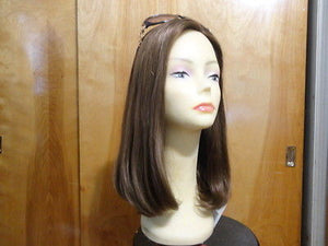 Remy Human Hair Light Brown with Highlights #12/8 - wigs, Women's Wigs - kosher, Malky Wigs - Malky Wigs