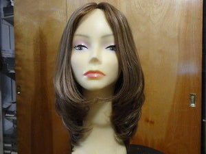 "European Multidirectional 16"" Straight Medium Brown #14/8 Stretch Cap - wigs, Women's Wigs - kosher, Malky Wigs - Malky Wigs"