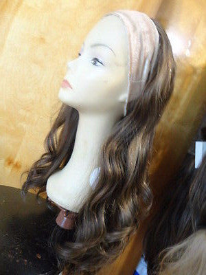 "European BandFall 26"" Medium Light Brown Highlights #10/6/8 - wigs, Women's Wigs - kosher, Malky - Malky Wigs"