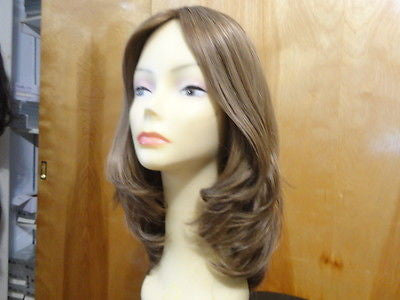 "European Multidirectional 16"" Straight Light Brown with Highlight #14/8 - wigs, Women's Wigs - kosher, Malky - Malky Wigs"