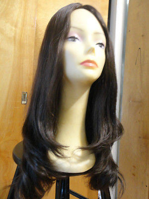 "European Multidirectional 22"" Straight Medium Brown #4 - wigs, Women's Wigs - kosher, Malky Wigs - Malky Wigs"