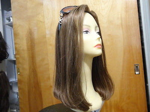 Remy Human Hair Medium Brown with Highlights #14-8 - wigs, Women's Wigs - kosher, Malky Wigs - Malky Wigs