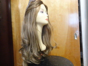 "European Multidirectional 26"" Straight Lightest Brown with Highlights #14/8 - wigs, Women's Wigs - kosher, Malky Wigs - Malky Wigs"