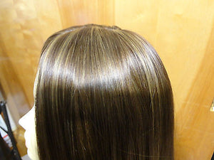 "European Multidirectional 22"" Straight Medium Brown with Highlights #8/6/10 - wigs, Women's Wigs - kosher, Malky Wigs - Malky Wigs"