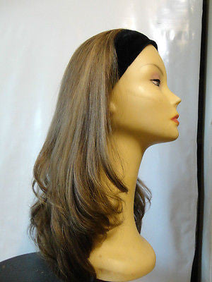 "European BandFall 22"" Light Brown with Highlights #14/8 - wigs, Women's Wigs - kosher, Malky - Malky Wigs"