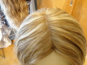 "European Multidirectional 16"" Wavy Dirty Blonde with Streaks #16/10 - wigs, Women's Wigs - kosher, Malky Wigs - Malky Wigs"