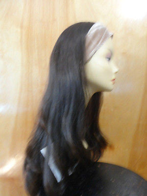 "European BandFall 26"" Straight Dark Brown  #4 - wigs, Women's Wigs - kosher, Malky Wigs - Malky Wigs"