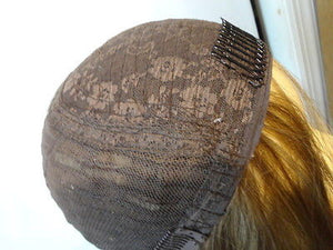 "European BandFall 22"" Light Brown with Highlights #14/8 - wigs, Women's Wigs - kosher, Malky Wigs - Malky Wigs"