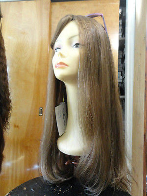 "European Multidirectional 28"" Straight Medium Light Brown #8 - wigs, Women's Wigs - kosher, Malky - Malky Wigs"