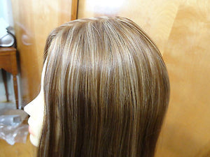 "European Multidirectional 26"" Straight Lightest Brown/Blonde #14/8 - wigs, Women's Wigs - kosher, Malky Wigs - Malky Wigs"