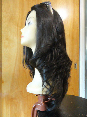 "European Multidirectional 22"" Straight Darkest Brown #2 Stretch - wigs, Women's Wigs - kosher, Malky Wigs - Malky Wigs"