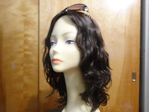 "European Multidirectional 16"" Wavy Dark Brown with Highlights #6/2 - wigs, Women's Wigs - kosher, Malky Wigs - Malky Wigs"